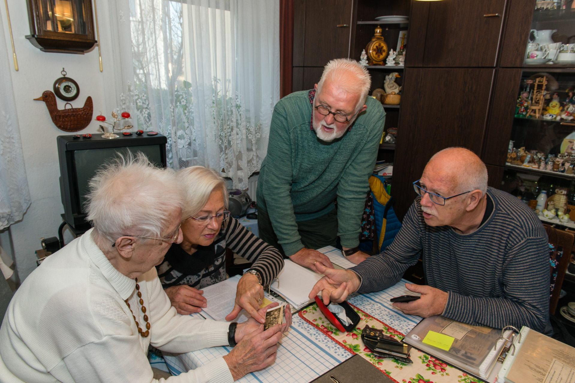 Familie Kijk in de Vegte bij Ursula Borstorff, Raguhn